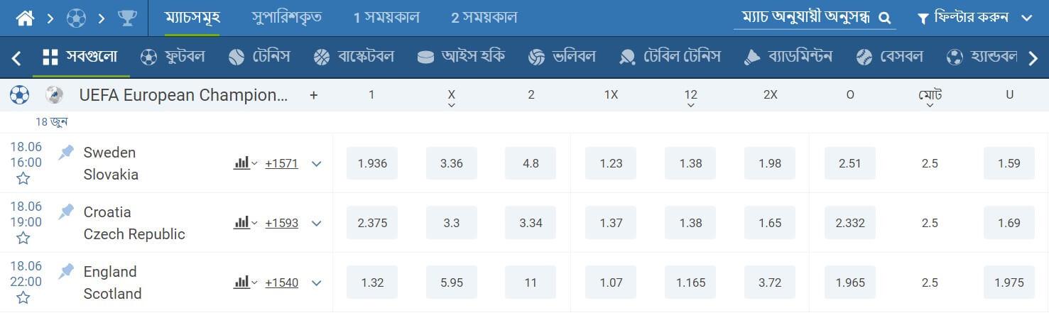 1xbet bangladesh betting market