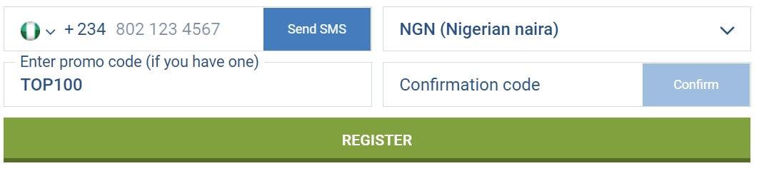 1xbet nigeria promo code